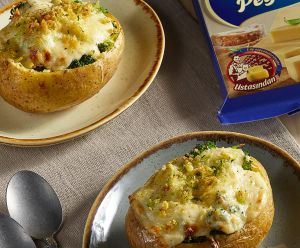 Baked Potato with Vegetables and President Gouda
