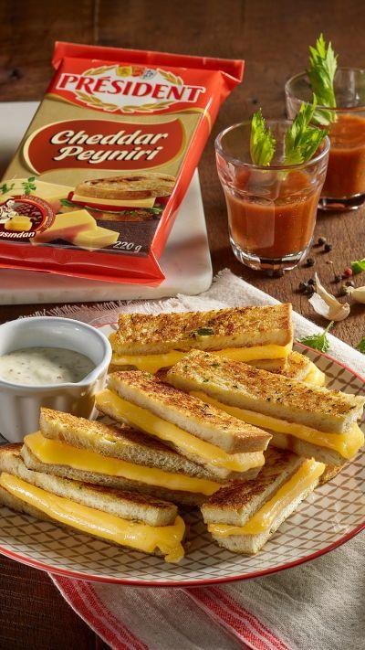 President Cheddar'lı Atıştırmalık Tost