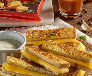 Snack Toasted Sandwich with President Cheddar