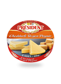 President Cheddar Triangle Cheese